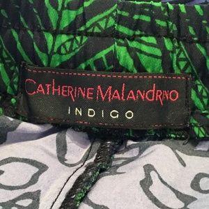 Catherine Malandrino Shorts - Catherine Malandrino Indigo Tulip Shorts